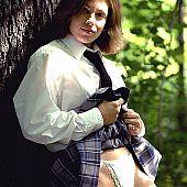 Schoolgirl takes pants panties.