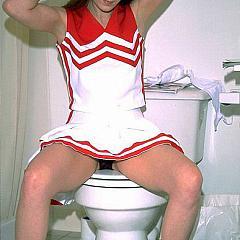 Teens cheerleader.